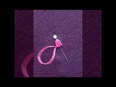 Etamin kolye yapımında kullanılan dokuma tekniği ile çiçek yapımı. Picot stitch