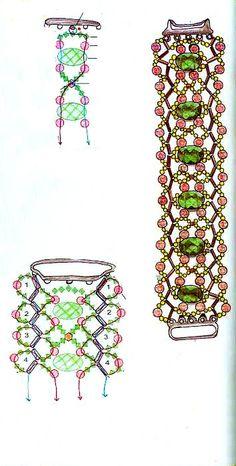 Chart bracelet beads