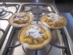 tartas crocantes de manzanas