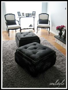 diy tufted ottoman tutorial, carpets rugs upholstery, painted furniture