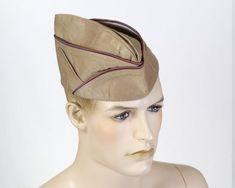 Vintage Inspired Dresses, Vintage Outfits, Garrison Cap, Army Uniform, Red Hats, Size 14 Dresses, Us Army, Blue Orange