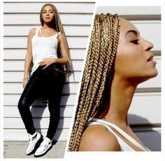 Beyonce blonde box braids