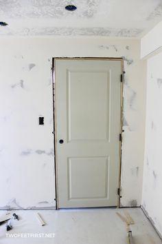 The Easiest Way To Install An Interior Door Prehung Interior Doors French Doors Interior Door Installation