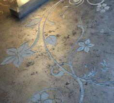 polished concrete, concrete art, floor design, concret floor, hous, stencil, decorative concrete, floor patterns, painted concrete floors