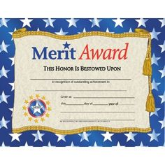 Hayes School Publishing Certificates Merit Award With X 11 Perfect Attendance Certificate, Certificate Of Achievement Template, Award Certificates, Certificate Templates, Kids Awards, Teaching Supplies, Educational Toys, Disappointed, Printed