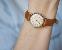 Retro watch Zarja women's watch minimalist watch by SovietEra, $69.00