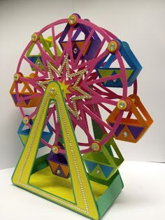 Adventures with my Zing!   - Tracey Farr: FERRIS WHEEL - YES, OUT OF PAPER!