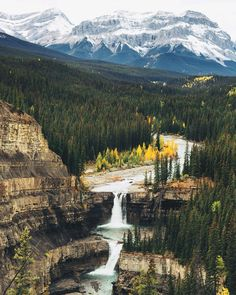 Crescent Falls just west of Nordegg, Alberta