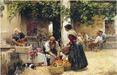 Orange seller - Joaquín Sorolla -- Completion Date: 1891