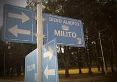 Calle Diego Alberto MILITO CIUDAD DE AVELLANEDA - street Diego Alberto Milito city Avellaneda. RACING CLUB DE AVELLANEDA