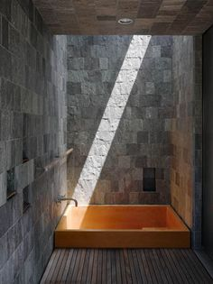 skylight, bathtub - Bohlin Cywinski Jackson  THIS is flawles! I stayed in someone's home in Cali who had a shower like this & it was like showering in a natural cave. Bathtub AND shower is the ultimate for me!