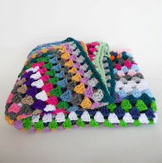 One of a Kind Color Crochet Granny Square Full by kaleemichele