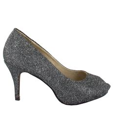 Zapato Peep Toe en Gris oscuro. Esencial para cualquier ceremonia, fiesta u ocasión especial. Ref.5990 //Dark Grey Peep Toe shoe. Essential for any ceremony, party or special occasion. Ref.5990