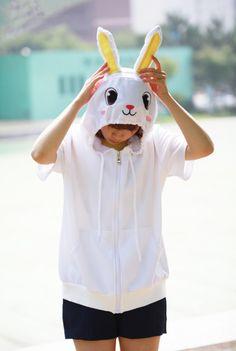 Rabbit Animal Hoodie - 4kigurumi.com  http://www.4kigurumi.com/rabbit-animal-hoodie