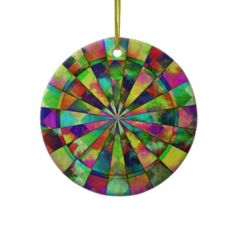 Psychedelic colors target your eyes  by Valxart.com on 2 sided Christmas Ornaments  See Valxart.com or Zazzle Valxart store at  http://zazzle.com/valxart*