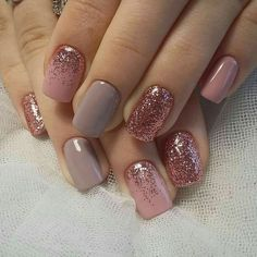 """Short nails are much easier for women. Especially working women prefer short nails. If you love short nails, you must see """"Wonderful Short Nail Desi. glitter gel nail designs for short nails for spring # Fall Nail Art Designs, Short Nail Designs, Gel Nail Designs, Nails Design, Cute Simple Nail Designs, Pretty Nail Designs, Trendy Nail Art, Stylish Nails, Simple Fall Nails"""