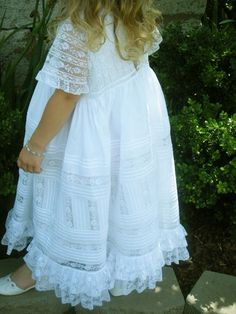 Sew Beautiful Blog: Emeline's Diagonal Lace Christening Gown Dress