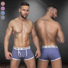 Supplying wholesale underwear Australia Men s Fashion striped cotton striped underpants boxer shorts