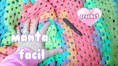 """COMO HACER MANTA RAPIDA Y FACIL A CROCHET SIN COSER  """"crochet blanket fo..."""