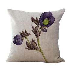 """18"""" Pillowcase 3D Rose Printed Cushions Linen Cushion Cover Throw Pillow Case For Living Room Bed Room Flower Peony Small Fresh"""