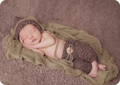 Crochet Newborn Pants and Pixie Hat  Photo Prop by CoriesCreations, $35.00