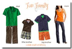 Here is another fun idea for those who can not decide what to wear. Bold colors - mix and match!!