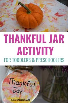 Making a thankful jar is a great way to help your kids focus on feeling grateful this holiday season. Here's how to make a family gratitude jar using shaving cream marbled paper. Thanksgiving Post, Thanksgiving Crafts For Toddlers, Thanksgiving Activities, Easy Crafts For Kids, Toddler Preschool, Toddler Crafts, Toddler Activities, Gratitude Jar, Grateful
