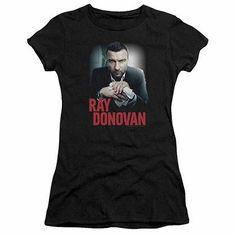 57c77437a0a2a Ray Donovan Clean Hands Black Juniors T-Shirt Rei Dos Duendes