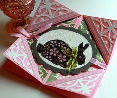Easter Napkin Fold card