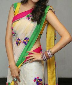 Kushi in saree photos at Ala Ela Audio release function Simple Sarees, Trendy Sarees, Stylish Sarees, Fancy Sarees, Beautiful Saree, Beautiful Indian Actress, Beautiful Women, Moda Indiana, Saree Blouse Patterns