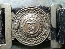Early Garda Siochana Belt Buckle and leather Belt - Mourne Militaria Irish Free State, Police Uniforms, Centre Pieces, Plaque, Belt Buckles, Badges, Belts, War, Vehicles