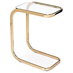 Saber Hugging Side Table, Brass