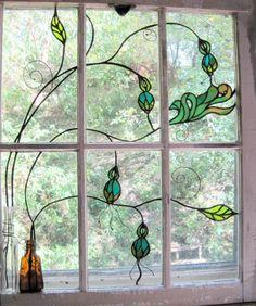 Glass Window: Simple Stained Glass Window