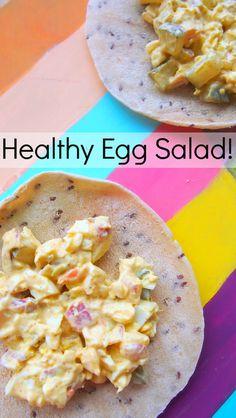 Healthy & Light Egg Salad! 28 Calories Per Serving! Yum :)