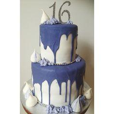Glammed up but simple 16 birthday cake! Pretty girl birthday cake