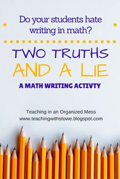 I had a goal to have my students write more in math class this year, without making writing such a big deal. When students hear that th...