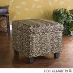 Holly and Martin Safari Storage Ottoman - Leopard - HM-75-212-041-3-10. HM-75-212-041-3-10 - Holly and Martin Safari Storage Ottoman - Leopard Add some flare to your home with this glamorous leopard print foot stool. Perfect everywhere from living room to kids room, the added storage and deco.. . See More Ottoman at http://www.ourgreatshop.com/Ottoman-C672.aspx