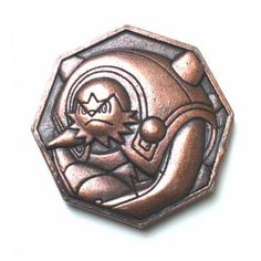 Pokemon 2014 Metal Collection XY#3 Chesnaught Coin (Copper Version)