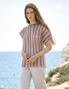 Book Woman Concept 3 Spring / Summer   33: Woman Sweater   Medium rose / Light pink / Pearl light grey Pull Rose, Aqua Rose, Pastel Shades, Color Inspiration, Sweaters For Women, Spring Summer, Feminine, Tunic Tops, Concept
