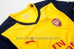 Segunda Camisetas del Arsenal 2014/15 02