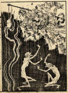 Hokusai. Zigoku to Tengoku Heaven and Hell.