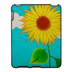 Grunge sonflower ipad case