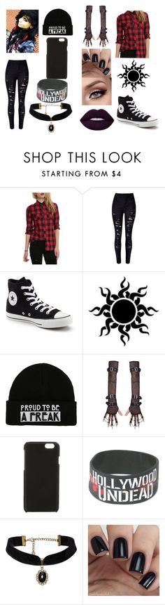 """""""Read the D box"""" by paigetheunknowngirl ❤ liked on Polyvore featuring WithChic, Converse, Calvin Klein and Lime Crime"""