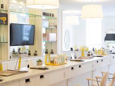 """DryBar: Treat yourself to a blowout while sipping a glass of wine and watching a rom-com at this anti-salon. """"The Mai Tai"""" a beachier style with loose waves is an L.A. favorite"""