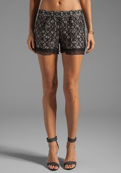 DVF shorts filled with easy glamour. Would pair well with a loose champagne tank and leather jacket