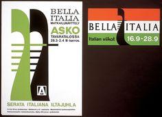 Bella italia matkailunäyttely asko tavaratalossa - Askon vanha mainos Bar Chart, Italia, Bar Graphs
