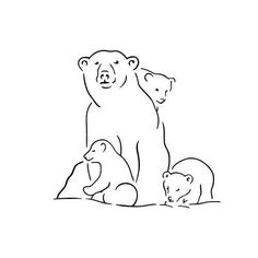 Ursus by Mandy Meow - Polar bears are greatly respected for their strength, courage and spiritual power. Baby Bear Tattoo, Polar Bear Tattoo, Cubs Tattoo, Bear Tattoos, Animal Tattoos, Polar Bear Drawing, Animal Outline, Polar Bear Outline, Mom Tattoo Designs