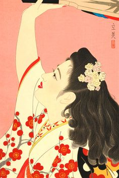 Shimura Tatsumi woodblock, 1953