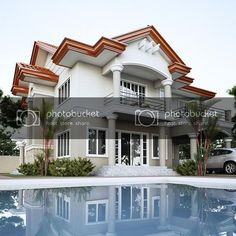 Dream Home Design, Home Design Plans, Modern House Design, My Dream Home, Architecture Magazines, Amazing Architecture, Architecture Design, Amazing Swimming Pools, Two Storey House