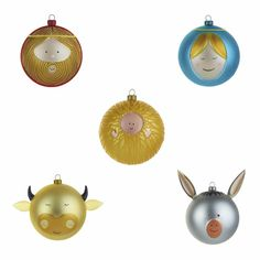 Christmas Baubles, Set of 5 by Alessi at Dotmaison